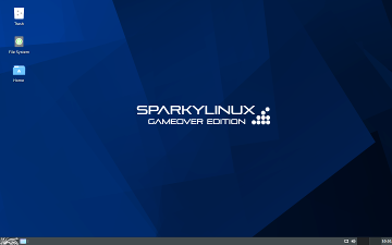 SparkyLinux 2020 Game Over screen shot
